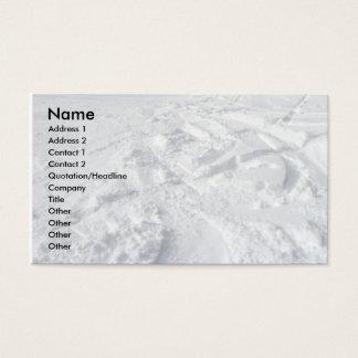 Mountain Snow Trails Business Card