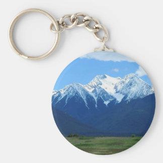 Mountain Snowy Peak Contrast Keychain
