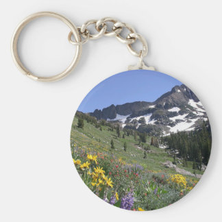 Mountain Spring Bloom Flowers Key Chain
