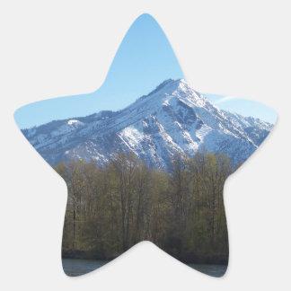 Mountain Star Sticker