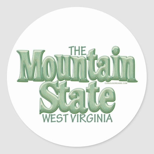 Mountain State, West Virginia Classic Round Sticker