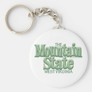 Mountain State, West Virginia Keychain