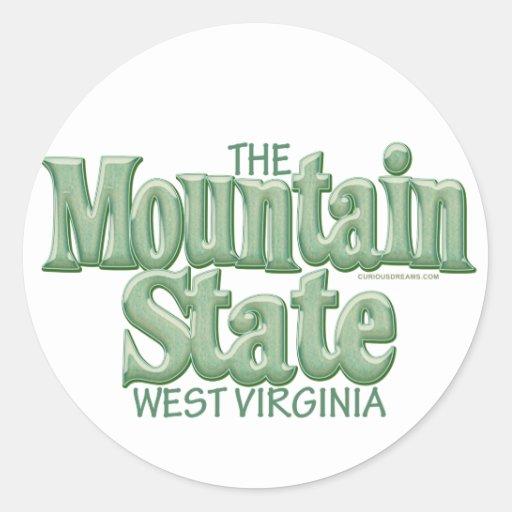 Mountain State, West Virginia Sticker