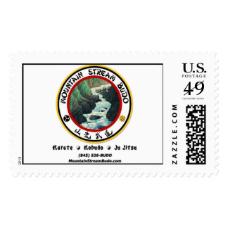 Mountain Stream Budo Post Card Stamps