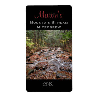 Mountain Stream Homebrew Label Shipping Label