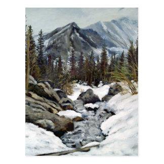 Mountain Stream Impressionist Oil Painting Postcard