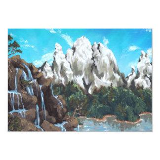 Mountain Stream 5x7 Paper Invitation Card