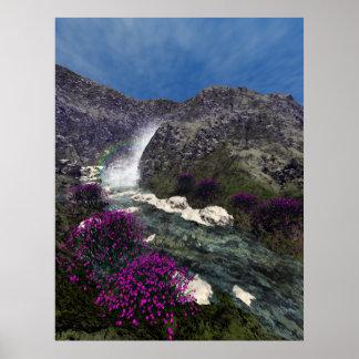 Mountain Stream Run Off Poster