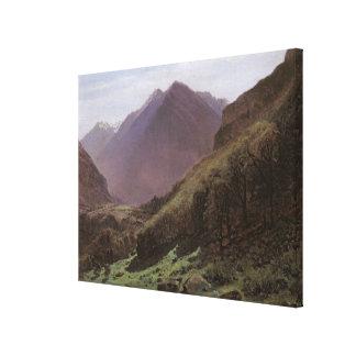 Mountain Study, c.1840-43 Canvas Print