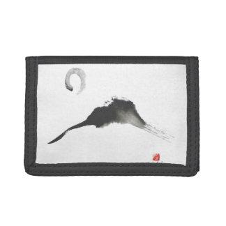 Mountain, Sumi-e Tri-fold Wallet