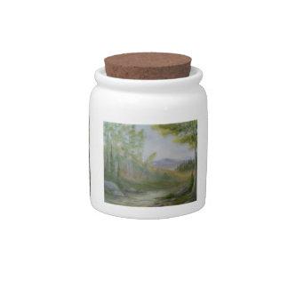 Mountain Summer Candy Jar