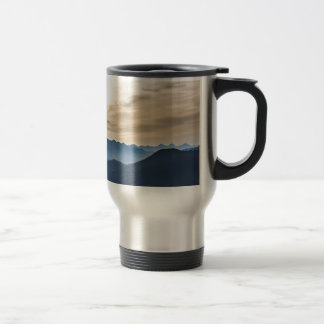 Mountain summit travel mug