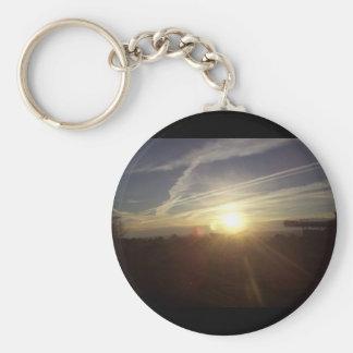 Mountain sunrise keychain