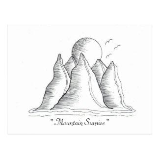""" Mountain Sunrise ""...Postcard... Postcard"