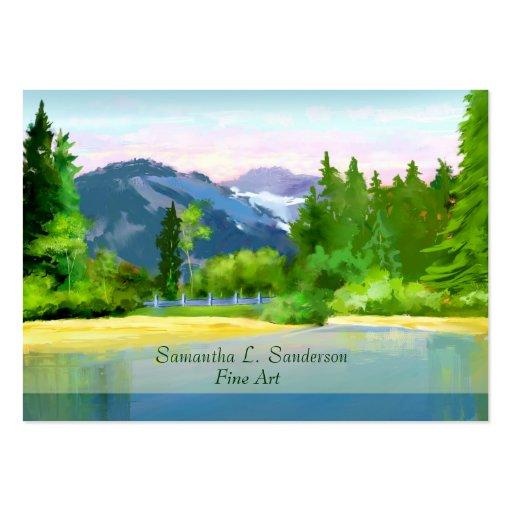 Mountain Sunrise Scene Fine Art Business Card