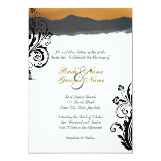 Mountain Sunrise Wedding Invitation