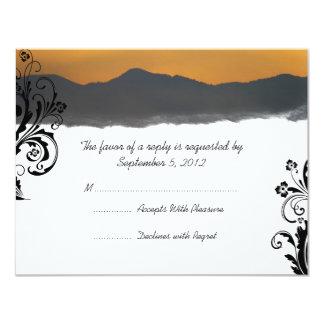 Mountain Sunrise Wedding RSVP 4.25x5.5 Paper Invitation Card