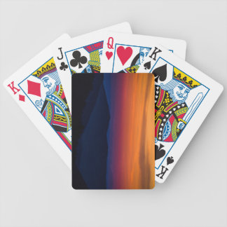 Mountain Sunset Bicycle Playing Cards