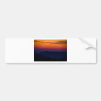 Mountain Sunset Car Bumper Sticker