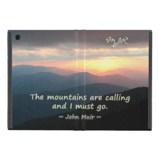 Mountain Sunset: Mtns calling Muir Template iPad Mini Case