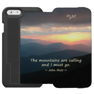 Mountain Sunset: Mtns calling Muir Template iPhone 6/6s Wallet Case