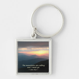 Mountain Sunset: Mtns calling Muir Template Key Chains