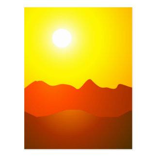 MOUNTAIN SUNSET POSTCARD