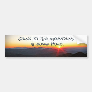 Mountain Sunset Star Shaped / John Muir quote Bumper Sticker