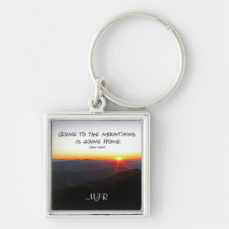 Mountain Sunset Star Shaped / John Muir quote Keychain