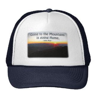 Mountain Sunset Star Shaped / John Muir quote Trucker Hat