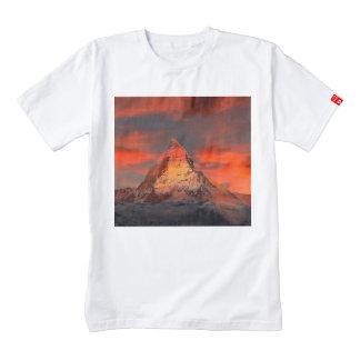 Mountain Switzerland Matterhorn Zermatt Red Sky Zazzle HEART T-Shirt