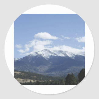 Mountain Top Classic Round Sticker