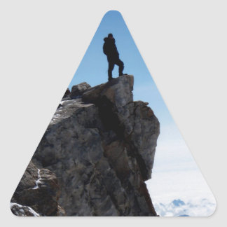 Mountain Top Military Man Triangle Sticker