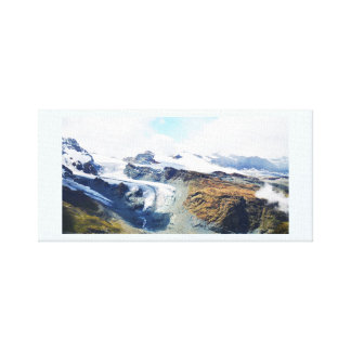 Mountain tops in the Swiss alps Canvas Print