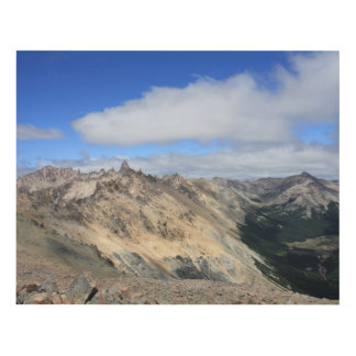 Mountain Tops Of Andes Range, Patagonia Panel Wall Art