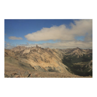 Mountain Tops Of Andes Range, Patagonia Wood Wall Art