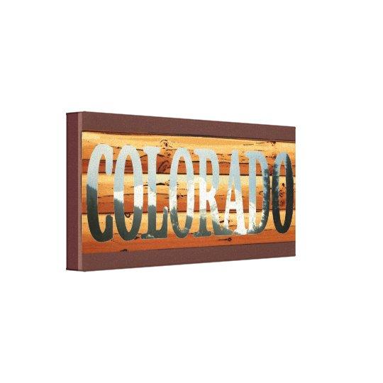 Mountain tops rustic Colorado canvas wall art