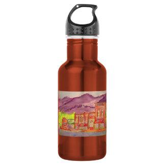mountain town art 18oz water bottle