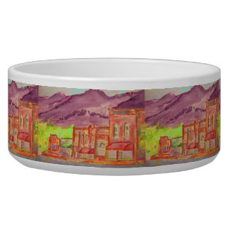 mountain town art bowl