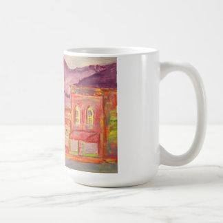mountain town watercolour sketch coffee mugs