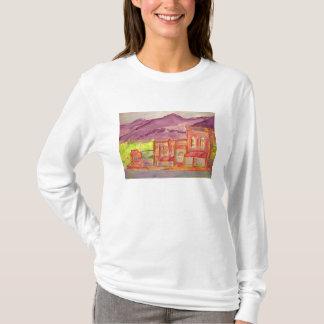 mountain town watercolour sketch T-Shirt