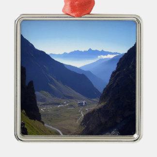 Mountain Trail Through To Heaven Metal Ornament