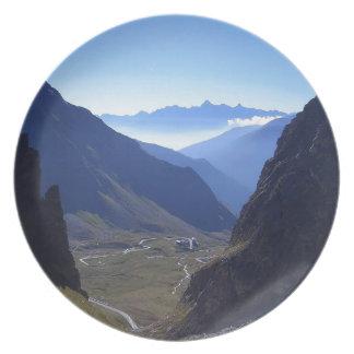 Mountain Trail Through To Heaven Party Plate