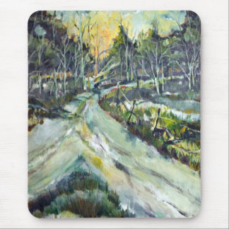 Mountain trails at sunset mouse pad