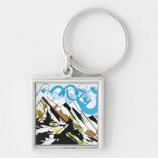 Mountain travel keychain