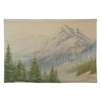 Mountain Tree Line Placemat Cloth Placemat