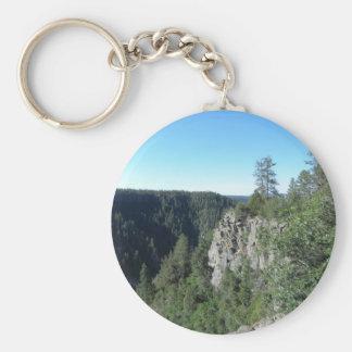 Mountain trees keychain