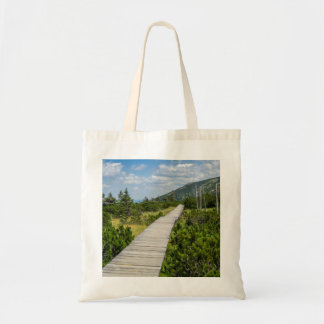 Mountain Tundra Wooden Path Landscape Budget Tote Bag