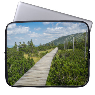Mountain Tundra Wooden Path Landscape Computer Sleeves