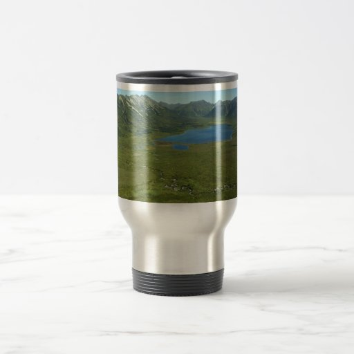 Mountain Valley and Lake 15 Oz Stainless Steel Travel Mug